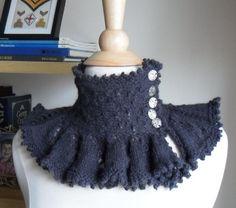 Knitting: Steampunk Ruffle Collar