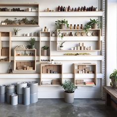 *beautiful simple store shelving in Portland by Eva Tsang