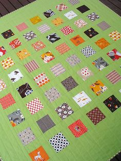 from Red Pepper Quilts- wouldn't this be a great idea for a charm pack or two?  hmm!