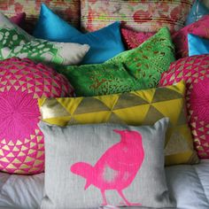Pillows - Custom Drapery www.mykbdhome.com #decor #decorative #bird