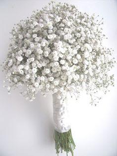 vidabela: Gypsophila wedding bouquets - love it