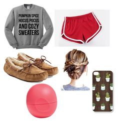 """""""sick day outfit #polyvore"""" by mcgeorgel on Polyvore featuring MITU, UGG Australia and Eos"""