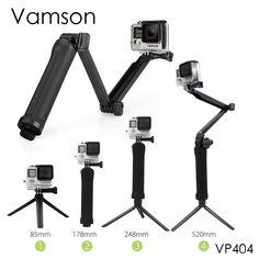 Vamson voor Gopro Accessoires Statief 3 Way Monopod Monteren Arm statief voor gopro hero5 4 3 + 2 xiaomi yi sj4000 camera vp404