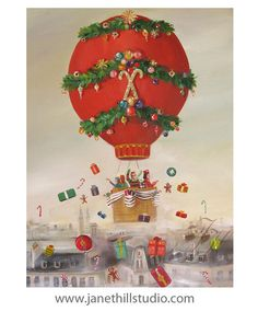 The Peppermint Family Christmas Balloon Ride. by janethillstudio