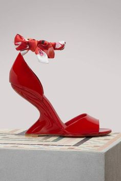 71f160bf4c66 Salvatore Ferragamo Todi wedge sandals Heels - Lipstick Red  SandalsHeels  Giuseppe Zanotti Heels
