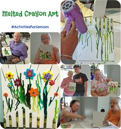 Melted Crayon Art! A perfect activity for seniors!