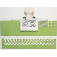 These fabulous punches from Martha Stewart create a continuous die-cut edge along both sides to make a 1-inch wide decorative strip. Use this punch to embellish cards, scrapbook pages and other paper crafts.