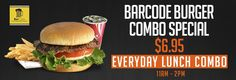Our everyday burger combo! 11 am - 2pm