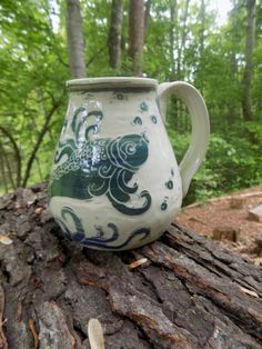 My Pisces soul is coveting this fish mug from Winding Road Studio.