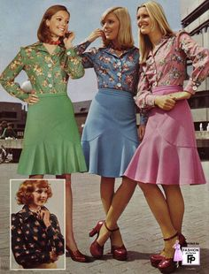 1974 vintage clothing.    Is is strange or slightly disturbing that these outfits are adorable to me? =P