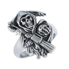 Sons of Anarchy Rings | Free-shipping-Sons-of-Anarchy-Ring-Grim-Reaper-Ring-Stainless-Steel ...
