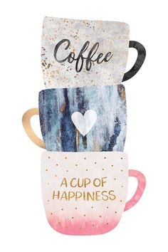 Coffee Humor, Coffee Quotes, I Love Coffee, My Coffee, Canvas Artwork, Canvas Wall Art, Deco Cafe, Coffee Cup Art, Cup Of Coffee Drawing