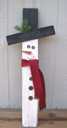 All you need are a few supplies and Glue Dots Advanced Strength adhesive to make this adorable wooden snowman for home. All you need are a few supplies and Glue Dots Advanced Strength adhesive to make this adorable wooden snowman for home. Wooden Christmas Crafts, Rustic Christmas, Christmas Projects, Holiday Crafts, Christmas Holidays, Christmas Ornaments, Christmas Trees, Snow Men Crafts, Christmas Christmas