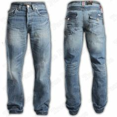8f9bb2e6ff7d Mens Boys APT Designer Boot Cut Denim Jeans Trousers Light   Dark Wash All  Sizes Dark Wash