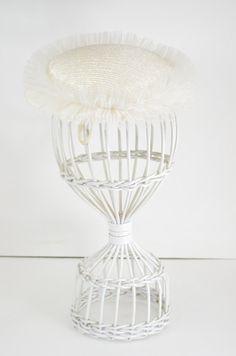 1950s white hat 50s summer hat Vintage 50s hat by melsvanity, $32.00