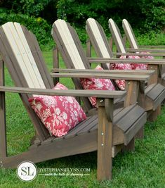 Staining and Preserving Wooden Adirondack Chairs | Backyard Retreat