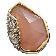Crystal Encrusted Rose Quartz RingAlexis Bittar