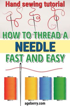 Newest Pics hand sewing tutorials Style What to learn how to thread a needle for hand sewing and tie a knot? This sewing tutorial is focu Hand Sewing Projects, Sewing Tools, Sewing Projects For Beginners, Sewing Tutorials, Bag Tutorials, Sewing Crafts, Sewing Hems, Sewing Elastic, Sewing Clothes