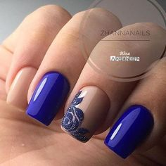 160 Blue Nail Art Ideas for 2018 - Frensh Nails, Prom Nails, Cute Nails, Pretty Nails, Nails 2018, Acrylic Nails, Classy Nails, Stylish Nails, Classy Nail Designs