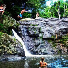 Fun at #whianwhianfalls yesterday! #waterfall #australia #nsw