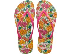 <p>Celebrate the 60's- Havaianas' birth decade -with an exclusive capsule collection from Havaianas and Liberty London. This colorful collection pairs the comfort of Havaianas with bright, floral Liberty archive prints from the 60's. The prints even carry a hidden Havaianas icon! The Slim Liberty flip-flop features classic slim styling, a Liberty print on the insole and tonal straps with a contrast Havaianas logo. A Liberty