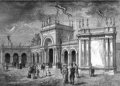 Esposizione nazionale ai Giardini Pubblici di Porta Venezia, 1881. L'ingresso principale