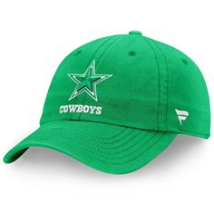 1c5a9706208250 Men's Dallas Cowboys NFL Pro Line by Fanatics Branded Kelly Green St.  Patrick's Day Fundamental II Adjustable Hat, Your Price: $19.99