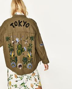 PARKA WITH BACK EMBROIDERY-JACKETS-WOMAN | ZARA United States