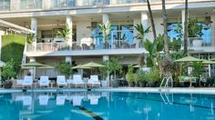 Beverly Hilton's Aqua Star Pool