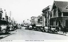 Forest Rd,Hurstville in 1930.Photo from Hurstville City Council.A♥W