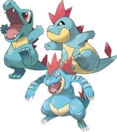 Totodile,Croconaw and Feraligatr are my favourite water type pokemon!