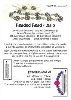 * Bead Mavens: Easy Beaded Bead Chain