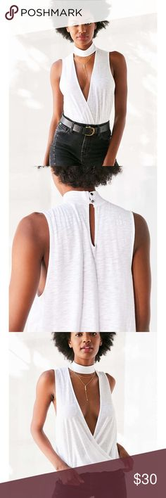 UO mock neck tank Trendy tank from urban outfitters. Brand name is silence and noise. Urban Outfitters Tops Tank Tops
