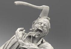 The Sculptures of Steve Lord Dead Alive, Sculptures, Lion Sculpture, Creature Design, Zbrush, The Walking Dead, Sculpting, Lord, Creatures