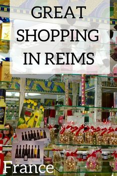 Heading to Reims, France for Champagne? Don't forget to shop! Shopping in Reims is just as fun as sipping the Champagne that the town is known for. Here you'll find hotels, shops and restaurants to enjoy! Reims | France | Champagne | Shopping #Reims #France #Champagne #Shopping