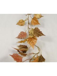 Autumn Birch Garland - Gold Glitter