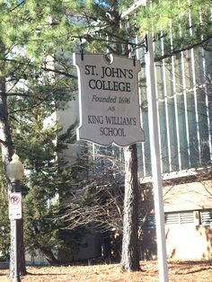 Saint John College, Annapolis, Maryland St Johns College, Annapolis Maryland, King William, Saint John, Trips, Lettering, School, Travel, Viajes