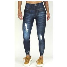 Leggings that look like Jeggings. Workout or dress casual with these amazing designs. High quality Lycra from Colombia. One Size fits all High waist Made in Colombia Lycra Love what you see? Check more of Valery Swim Wear Silver Leggings, White Leggings, Printed Leggings, Dark Blue Jeans, Jeggings, Casual Dresses, Skinny Jeans, Swimwear, How To Wear