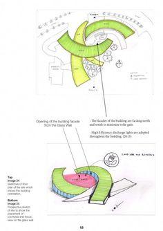 Nanyang Technological University School of Art Design and Media Build… - architektur Conceptual Architecture, Architecture Concept Diagram, Plans Architecture, Landscape Architecture Design, Green Architecture, School Architecture, Futuristic Architecture, Landscape Art, The Plan