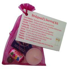 Bridesmaid Survival Kit In Black Thank You Gift Card Keepsake Novelty Wedding Co Uk Office Products Ideas 2018 Pinterest