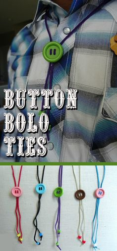 Get rodeo ready and make some easy button bolo ties, perfect for any cowkid costume. Get rodeo ready and make some easy button bolo ties, perfect for any cowkid costume. Cowboy Hat Crafts, Rodeo Crafts, Western Crafts, Easy Crafts For Kids, Summer Crafts, Diy For Kids, Horse Birthday Parties, Cowboy Birthday, Wild West Activities