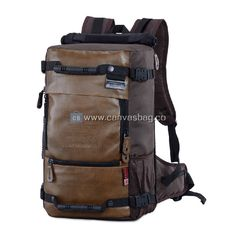 Big Canvas Rucksack Backpack Mens Travel Backpack