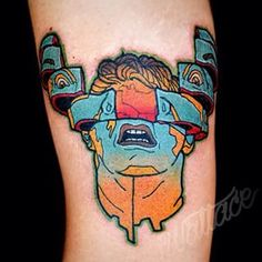 This trippy reminder of Total Recall: | 33 Magnificent Tattoos Inspired By…
