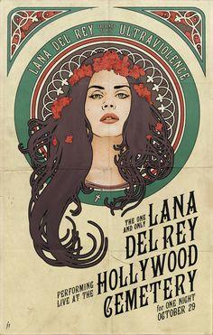 Lana Del Rey x Alphonse Mucha by Jump Jirakaweekul