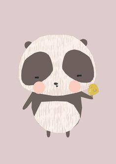 Vicky Riley 'Ansichtkaart Panda'