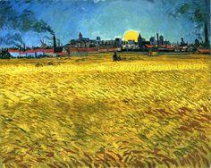 Винсент Ван Гог. Закат: пшеничное поле у Арля