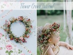 DIY Flower Crown Tutorial  With Spring at hand soon this wood go great at Indie/craft shows a like. I could see little angels wanting these as they pass the booth.. Think soft artificial flowers! HippieLicious!! Chele