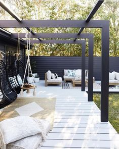 23 Instagram-worthy IKEA hacks you should try this weekend Pergola Attached To House, Pergola With Roof, Outdoor Pergola, Pergola Plans, Outdoor Rooms, Outdoor Living, Outdoor Furniture, Pergola Lighting, Outdoor Seating