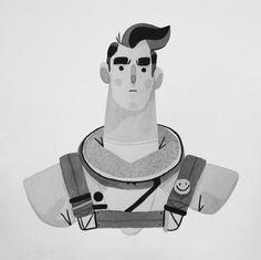 Behance :: Inktober 2015 by Rafael Mayani Comics Illustration, Character Illustration, Graphic Design Illustration, Illustrations Posters, Character Design Animation, Character Art, Graphic Design Typography, Graphic Art, Character Design Inspiration