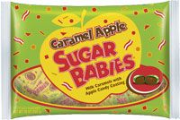 Caramel Apple Sugar Babies by Tootsie are peanut-free and gluten-free.